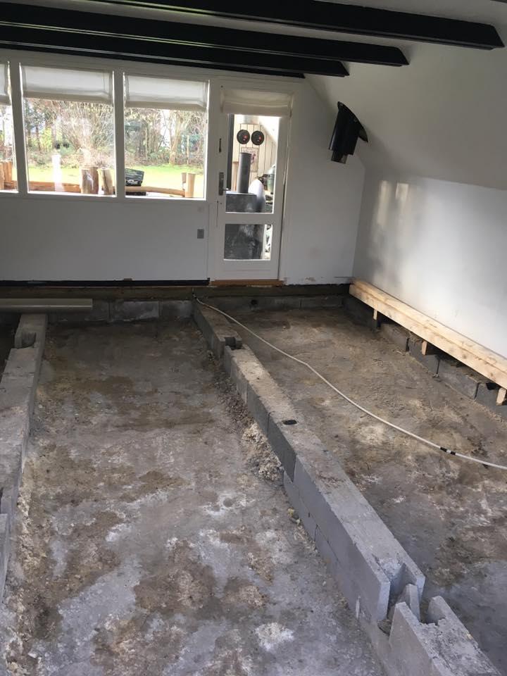Nyt gulv i sommerhus